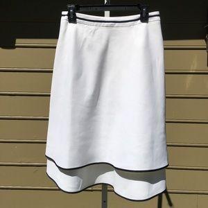 ANN TAYLOR LOFT white linen skirt